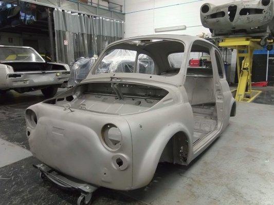 Carrozzeria Racing  fasi restauro FIAT 500