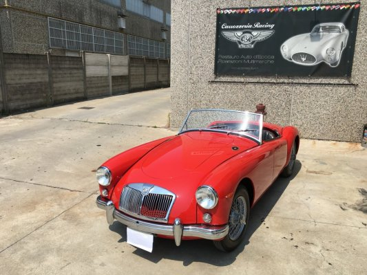 MG A 1958 in consegna
