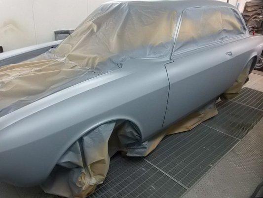 Alfa Romeo Gtj 1750 del 1969 -preparazione verniciatura-