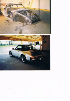 Porsche 911 Targa fase lattoneria/dima